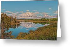 Mount Moran On Oxbow Bend Greeting Card by Brian Harig