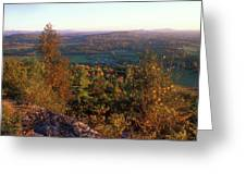 Mount Philo Foliage View Greeting Card by John Burk