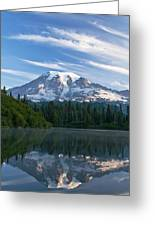 Mount Rainier Reflections Greeting Card by Greg Vaughn - Printscapes