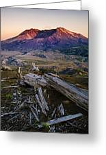 Mount St. Helens Sunset Greeting Card by Greg Vaughn - Printscapes