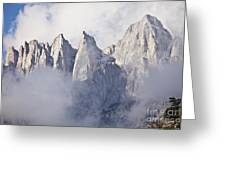 Mount Whitney Greeting Card by Greg Clure