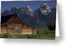Mountain Barn Greeting Card by Andrew Soundarajan