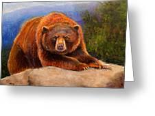 Mountain Bear Greeting Card by Susan Jenkins