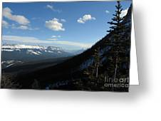 Mountain Corridor Greeting Card by Greg Hammond