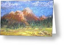 Mountain Meadow 2 Greeting Card by Curt Peifley