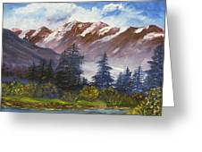 Mountains I Greeting Card by Lessandra Grimley