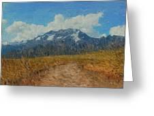 Mountains In Puru Greeting Card by David Lane