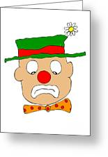 Mournful Clown Greeting Card by Michal Boubin
