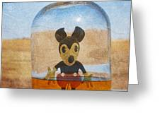 Mouse In A Bottle  Greeting Card by Jerry Cordeiro