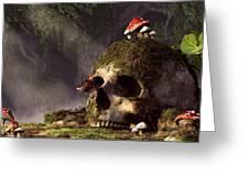 Mouse In A Skull Greeting Card by Daniel Eskridge