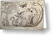 Mouse Greeting Card by Kathleen Raven