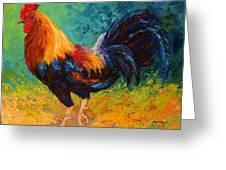 Mr Big - Rooster Greeting Card by Marion Rose