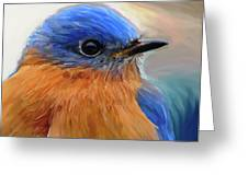 Mr. Blue Greeting Card by Patti Siehien
