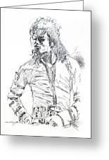 Mr. Jackson Greeting Card by David Lloyd Glover
