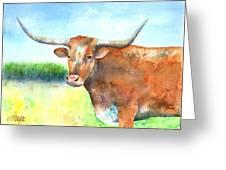 Mr. Longhorn Greeting Card by Arline Wagner