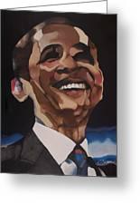 Mr. Obama Greeting Card by Chelsea VanHook