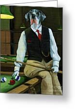 Mr. Thomas Tudor - Great Dane Portrait Greeting Card by Linda Apple