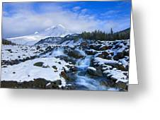 Mt. Hood Morning Greeting Card by Mike  Dawson