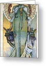 Mucha: Theatrical Poster Greeting Card by Granger
