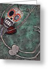 Muerte Fairy Greeting Card by Abril Andrade Griffith
