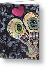Muertos De Amor Greeting Card by Abril Andrade Griffith