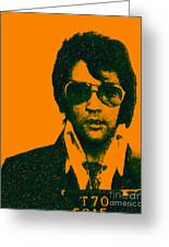 Mugshot Elvis Presley Greeting Card by Wingsdomain Art and Photography