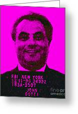 Mugshot John Gotti M88 Greeting Card by Wingsdomain Art and Photography