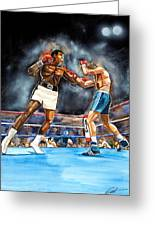 Muhammad Ali Greeting Card by Dave Olsen