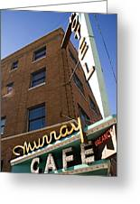 Murray Cafe And Hotel Greeting Card by Rachel Barner