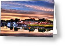 Murrells Inlet Sunset 3 Greeting Card by Mel Steinhauer