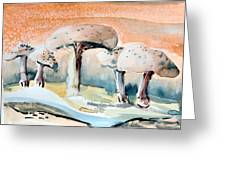 Mushroom Heaven Greeting Card by Mindy Newman