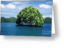 Mushroom-shaped Island Greeting Card by Dave Fleetham - Printscapes