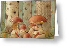 Mushrooms Greeting Card by Kestutis Kasparavicius