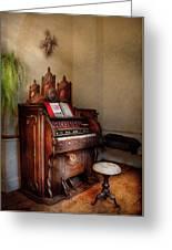 Music - Organ - Hear The Joy  Greeting Card by Mike Savad