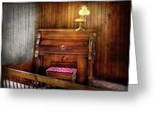 Music - Organist - A vital organ Greeting Card by Mike Savad