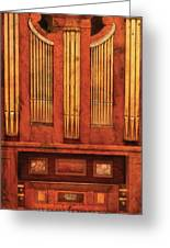 Music - Organist - Skippack  Ville Organ - 1835 Greeting Card by Mike Savad