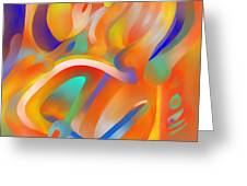 Musical Enjoyment Greeting Card by Peter Shor