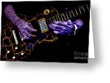 Musical Grunge  Greeting Card by Steven  Digman