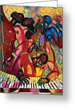 Musicfest Greeting Card by Larry Poncho Brown