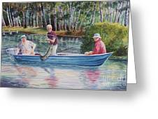 Musky Madness Greeting Card by Marilyn Smith