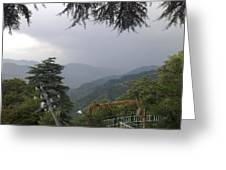 Mussoorie Monsoons Greeting Card by Padamvir Singh