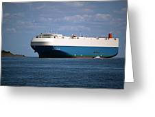 Mv Marvelous Ace Inbound Port Of Baltimore Greeting Card by Wayne Higgs