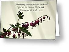 My All in All Greeting Card by Diane E Berry