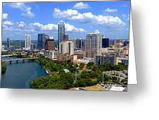 My Austin Skyline Greeting Card by James Granberry