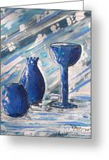 My Blue Vases Greeting Card by J R Seymour