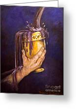 My Cup Runs Over Greeting Card by Deborah Smith