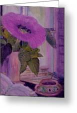 My Cuppa T Greeting Card by Anne-Elizabeth Whiteway
