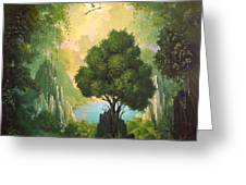 MY EDEN Greeting Card by Hans Doller