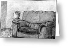 My Favorite Chair Greeting Card by Wendy Keely