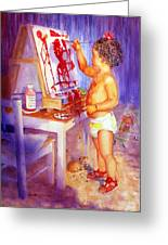 My Favorite Painter Greeting Card by Estela Robles